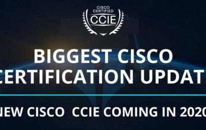 Cisco New Certifications
