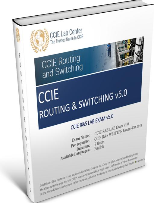 Lab H2 ( Lab 2.1 ) : CCIE R&Sv5