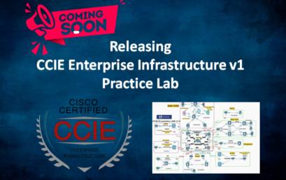 Releasing CCIE Enterprise Infrastructure v1 Real Lab1
