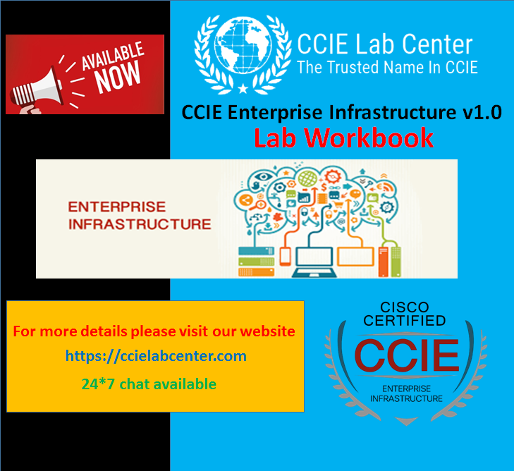 CCIE Enterprise Infrastructure Lab 1 is out